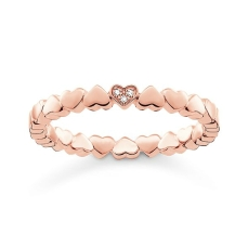 Thomas Sabo €89 - Rose Gold Heart Ring http://www.thomassabo.com/EU/en_IE/pd/ring/D_TR0013.html