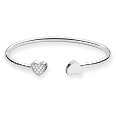 Thomas Sabo €169 - Sterling Silver Heart Bangle http://www.thomassabo.com/EU/en_IE/pd/bangle/AR086.html