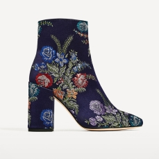 Zara €69.95 - Embroidered Detail Ankle Boots http://bit.ly/2lcrfeg