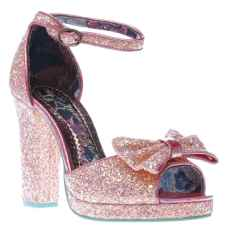 Irregular Choice €100 - Flaming June Glitter High Heels http://www.schuh.ie/womens/irregular-choice-flaming-june-glitter-pale-pink-high-heels/1159653360/