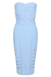 Boohoo Premium Strapless Sweetheart Bandage Midi Bodycon Dress, €81 http://bit.ly/2vwtA7y