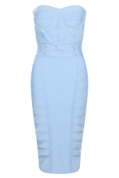 Boohoo Premium Strapless Sweetheart Bandage Midi Bodycon Dress, €81 http://bit.ly/2vwtA7y
