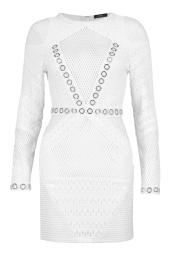 Boohoo Premium Mia Fishnet And Eyelet Bodycon Dress, €95 http://bit.ly/2u4pAL4