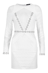 Boohoo Premium Mia Fishnet And Eyelet Bodycon Dress, €95 http://bit.ly/2u4pAL4