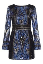 Boohoo Premium Emma Long Sleeve Sequin Dress, €105 http://bit.ly/2wdDpFo