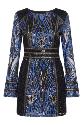 Boohoo Premium Emma Long Sleeve Sequin Dress, €105 http://bit.ly/2wdDpFo