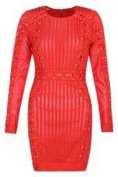 Boohoo Premium Orla Bandage Lattice Bodycon Dress, €95 http://bit.ly/2uIKT2K