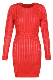 Boohoo Premium Orla Bandage Lattice Bodycon Dress, €95 http://bit.ly/2uIKT2K