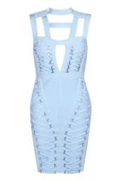 Boohoo Premium Poppy Bandage Cage Neck Bodycon Dress, €95 http://bit.ly/2sWoiSQ
