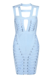 Boohoo Premium Poppy Bandage Cage Neck Bodycon Dress, €95 http://bit.ly/2sWoiSQ