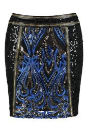 Boohoo Premium Poppy Sequin & Gold Mesh Trim Skirt, €61 http://bit.ly/2uapOAp