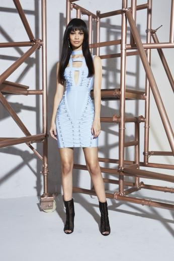 Boohoo Premium Poppy Bandage Cage Neck Bodycon Dress €95
