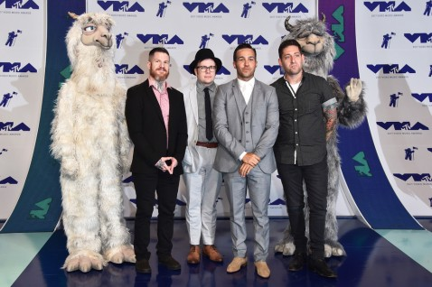Andy Hurley, Patrick Stump, Pete Wentz & Joe Trohman of Fall Out Boy