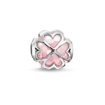Thomas Sabo, Karma Beads Pink Cloverleaf Bead, €59 http://www.thomassabo.com/EU/en_IE/pd/bead--pink-cloverleaf-/K0170-034-9.html