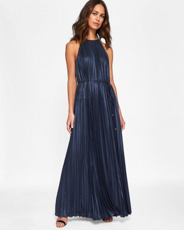 Alcee Metallic Pleated Maxi Dress, Ted Baker, €300 http://bit.ly/2hoagB8
