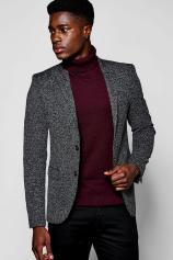 Boohoo Slim Fit Jersey Blazer