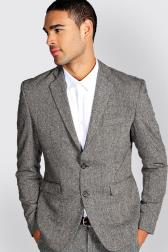 Boohoo Slim Fit Tweed Blazer