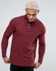 Jack Wills Staplecross Long Sleeve Slub Polo Shirt In Damson, €67.50 http://bit.ly/2hDMPnu