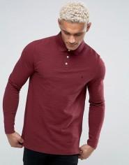 Jack Wills Staplecross Long Sleeve Slub Polo Shirt In Damson, €67.50 http://bit.ly/2hDMPnu