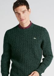 Lacoste Cable Knit Wool Sweater, €191 http://bit.ly/2j95vfd