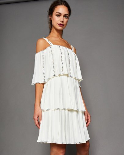 Meltea Embellished Pleated Tiered Dress, Ted Baker, €300 http://bit.ly/2ACrL9k