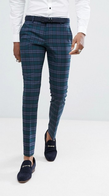 Noose & Monkey Super Skinny Suit Trousers In Tartan Check, €87.83 http://bit.ly/2j8LTb5
