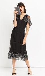 Embellished Cape Back Dress, Oasis, €128 http://bit.ly/2zSZZbG