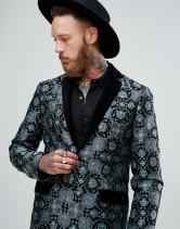 Reclaimed Vintage Inspired Tapestry Blazer With Velvet Lapel, €135.13 http://bit.ly/2jD6cBz