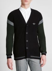 River Island Black Block Stripe Sleeve Knit Cardigan, €45 http://bit.ly/2AfiSFR