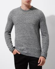 River Island Grey Knit Crew Neck Slim Fit Jumper, €37 http://bit.ly/2j82iwu