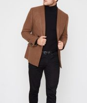 River Island Rust Brown Double Breasted Skinny Fit Blazer, €107 http://bit.ly/2AUdR1O