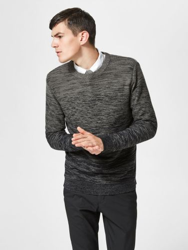 Selected Ombré Crew Neck Knitted Pullover, €39.99 http://bit.ly/2z0rFY8