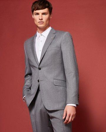 Ted Baker Javis Herringbone Wool Jacket, €445 http://bit.ly/2mIF9FV