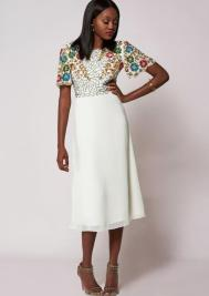 Ariann Midi Dress White, Virgos Lounge, €107.32 http://bit.ly/2zyWHcM