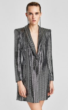 Metallic Blazer Dress, Zara, €69.95 http://bit.ly/2i8BInr