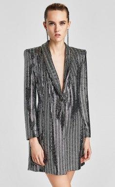 Metallic Blazer Dress, Zara, €69.95 http://bit.ly/2i8BInr