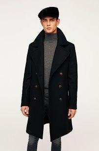 Zara Military Style Coat, €159 http://bit.ly/2AUkCkj