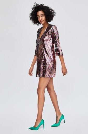 Multi Sequin Dress, Zara, €49.95 http://bit.ly/2ywzOmM
