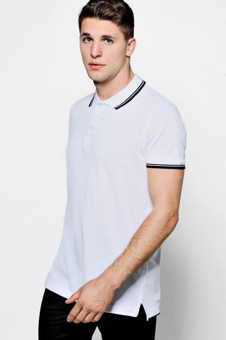 Short Sleeve Pique Polo With Tipping Detail, Boohoo MAN, €8.40 http://bit.ly/2BSyxaO