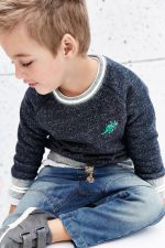 Boys Grey/Navy Badged Crews Two Pack, Next, €18.50 http://bit.ly/2BYRN7s