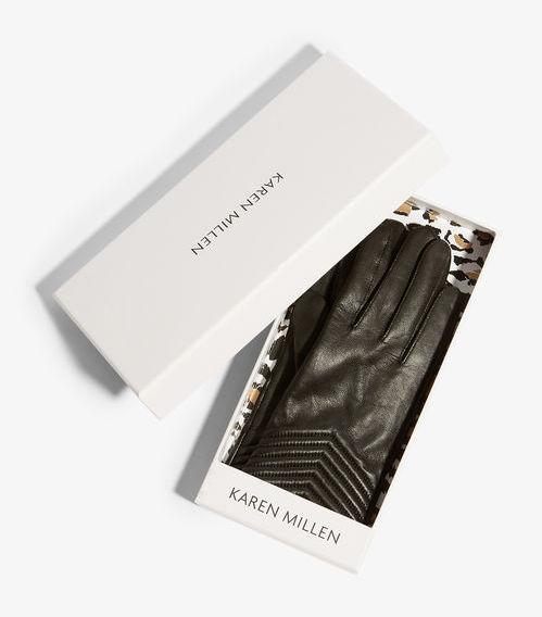 Karen Millen Leather Quilted Gloves, €70 http://bit.ly/2zY4P3w