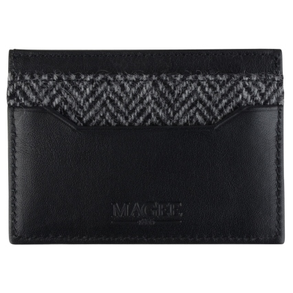 Grey Herringbone Donegal Tweed & Leather Card Holder, Magee 1866, €75 http://bit.ly/2jG50dH