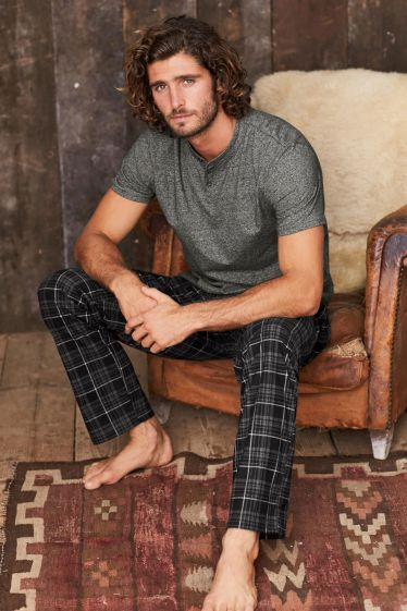 Black/Grey Check Cosy Set, Next, €39 http://bit.ly/2yeVkeW
