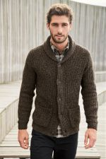 Brown Rib Shawl Cardigan, Next, €42 http://bit.ly/2ASxzOG