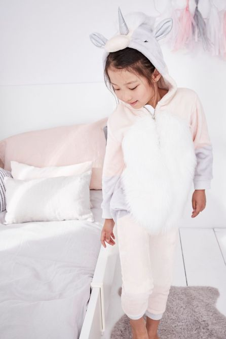 Next Girls Unicorn Fleece All-In-One, €30 http://bit.ly/2j6oDP4