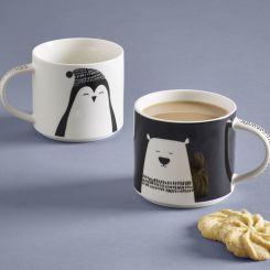 Next Set Of 2 Polar Bear And Penguin Mugs, €10.50 http://bit.ly/2itPAIH