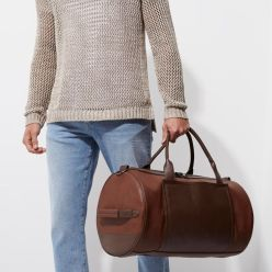 Tan Brown Panel Holdall, River Island, €60 http://bit.ly/2BENjG8