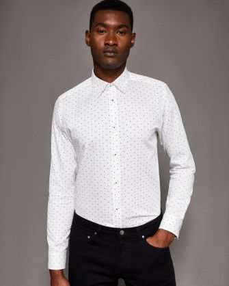 Star Print Cotton Shirt, Ted Baker, €105 http://bit.ly/2BSPbHk