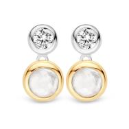 Ti Sento Silver and Gold Drop Stud Earrings, €89 http://bit.ly/2k8D6qb