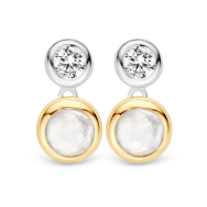 Ti Sento Silver and Gold Drop Stud Earrings, €89 http://bit.ly/2k8D6qb